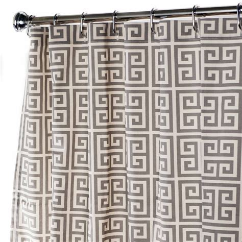 greek key curtains extra long shower curtain fabric shower curtains gray