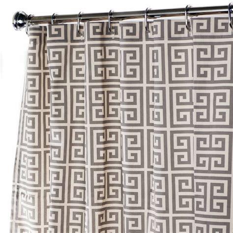 greek key shower curtain extra long shower curtain fabric shower curtains gray