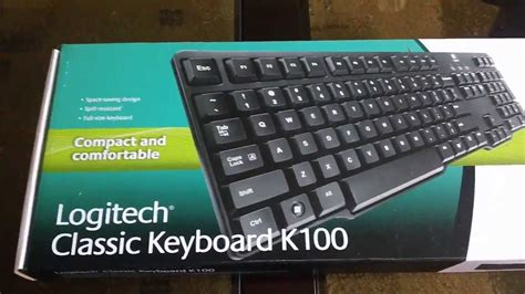 Keyboard Logitech K100 Usb logitech classic keyboard k100 review hd