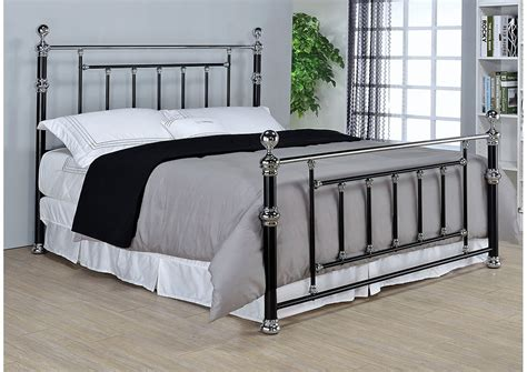 Black Chrome Queen Bed S S Furniture Inc Black And Chrome Bedroom Furniture