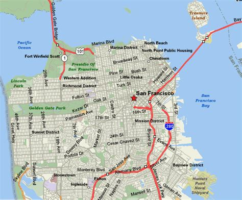 hotels in san francisco map your area