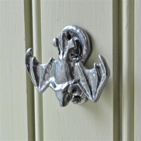 bat door knocker kirkpatrick pewter iron bat door knocker 2622 cast in style