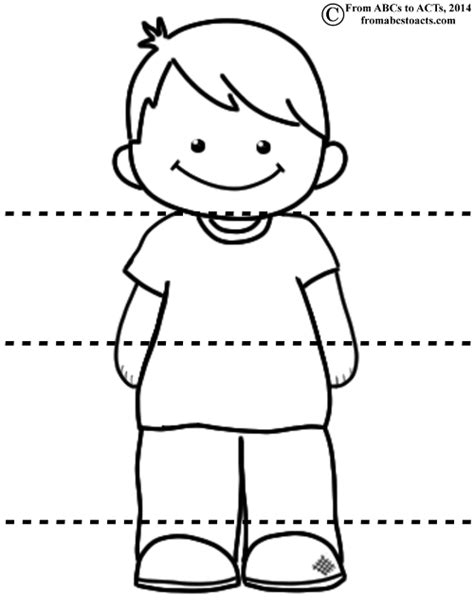 head shoulders coloring pages