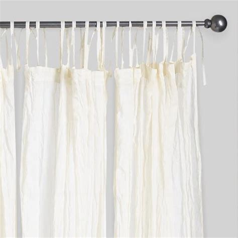 voile drapes curtains natural crinkle voile cotton curtains set of 2 world market