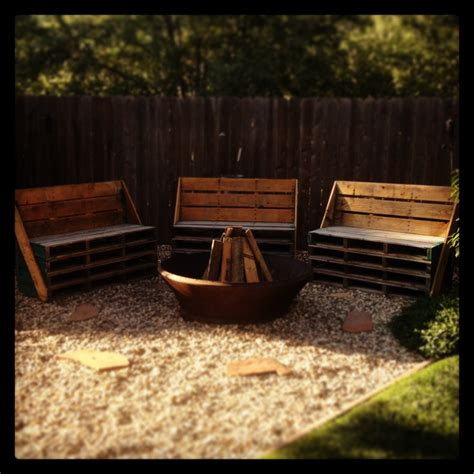 benches around fire pit pallet benches around a fire pit backyard pinterest