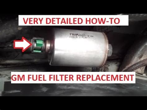 how to remove and replace your fuel filter youtube