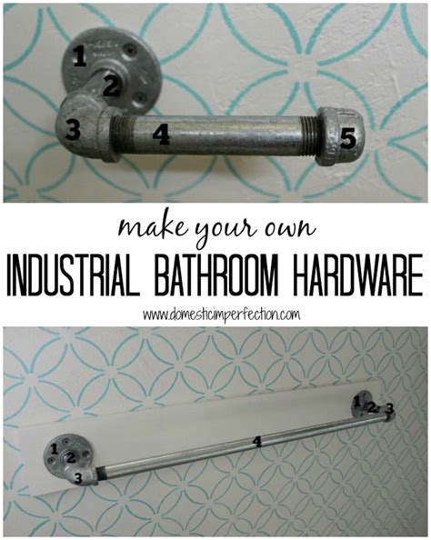 Industrial Style Bathroom Accessories 17 Best Ideas About Diy Iron Pipe On Iron Pipe Shelves Pipe Diy Projects And