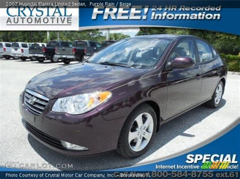 2007 Hyundai Elantra Limited by Purple 2007 Hyundai Elantra Limited Sedan Beige