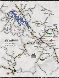 maps of lake glenville and cashiers area carolina