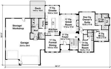 4 car garage house plans house plan 42648 at familyhomeplans com