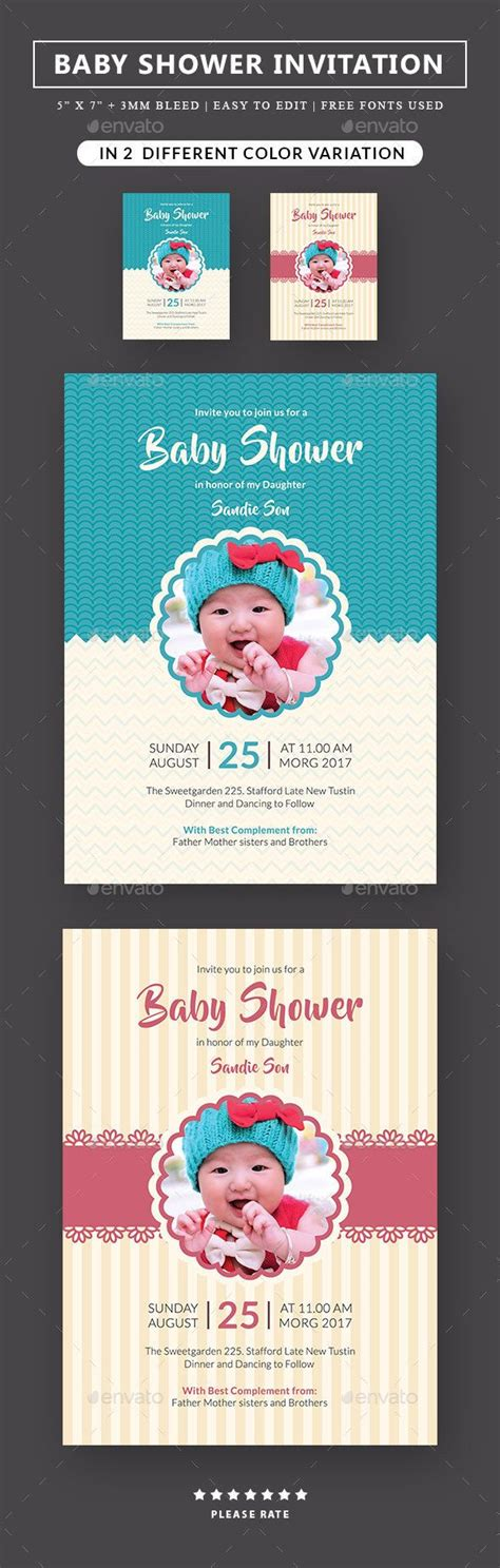 baby shower card template psd 25 best ideas about baby shower invitation templates on