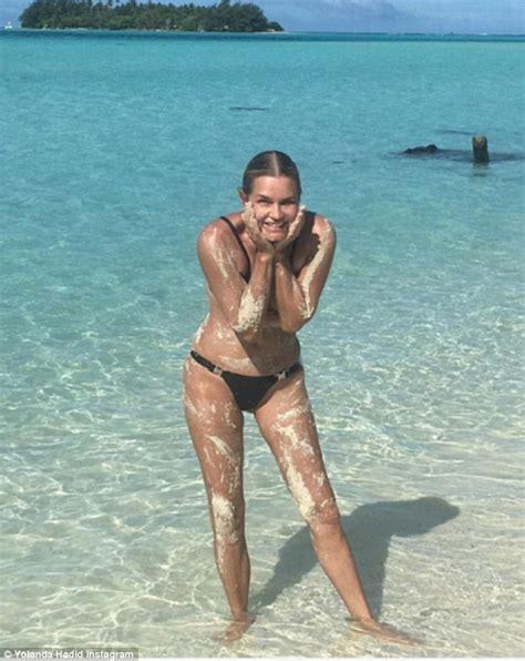 yolanda foster when she was young yolanda hadid in tiny bikini on instagram during tahiti