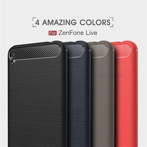 Asus Zenfone Live 5 0 Zb501kl Premium Carbon Fiber Brushed Soft struttura in fibra di carbonio per coperture tpu per asus