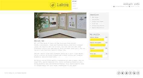 laboq the ultimate html5 minimal template by