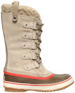 Sorel gray joan of arctic knit leather boots product 1 21916249 0