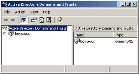 active directory console solutionbase active directory domains and trusts console