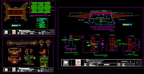 bridges type slab beam dwg detail for autocad � designs cad