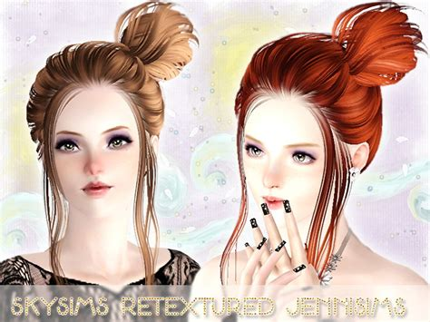 sims 3 hairstyles free download side topknot hairstyle skysims 104 retextured by jenni