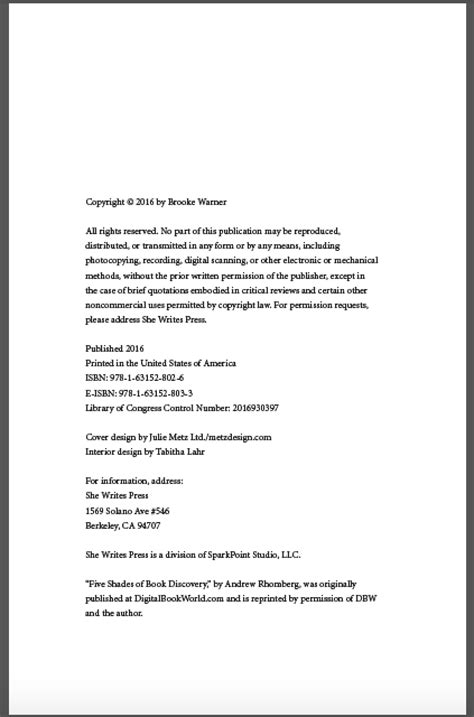 copyright template for book 9 ibpa s industry standards checklist for a