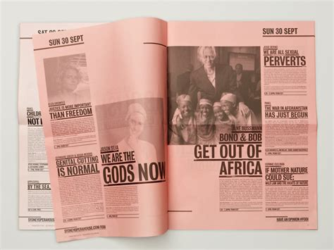 tabloid layout design inspiration 40 epic brochure inspiration