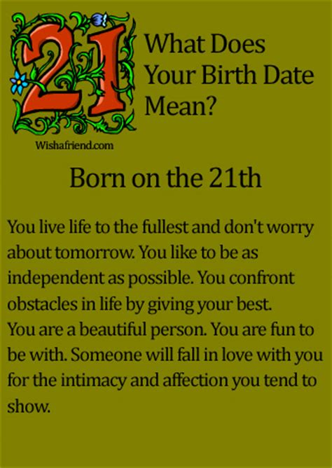 The 21 Best Images About - what does your birth date born on the 21th