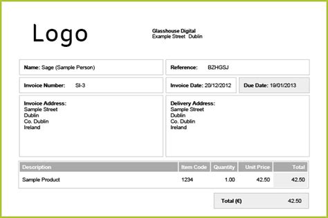 invoice template ireland how to create an invoice one