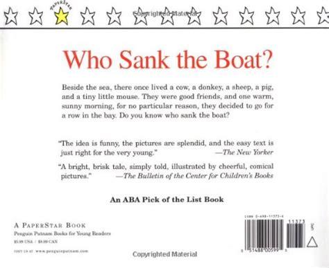 libro who sank the boat di pamela allen
