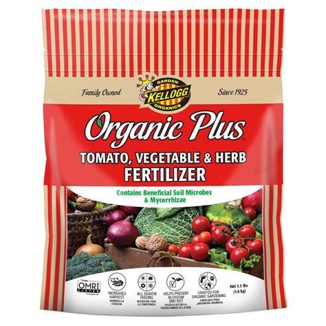 Fertilizer For Vegetable Gardens Kellogg Garden Organics 3 5 Lb Tomato Vegetable And Herb