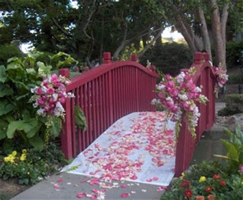 wedding bridge decorated bridge wedding longans place bridges