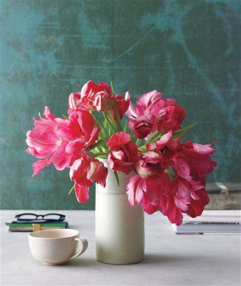 Care For Tulips In Vase by Bouquet Of Tulips How To Arrange Flowers Real Simple