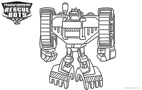 rescue bots coloring pages boulder from transformers rescue bots coloring pages
