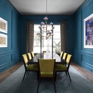 popular dining room  blue walls design ideas