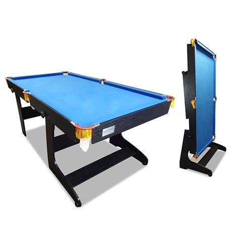 Folding Pool Table 8ft New 6ft Foldable Fold Away Pool Table For Billiard Snooker Small Room