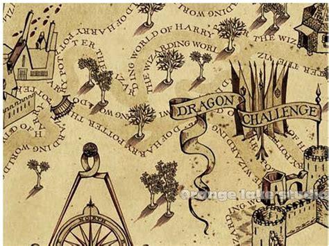 decorative harry potter books harry potter marauders map cloth painting core decorative