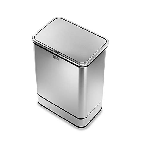 bed bath and beyond simplehuman trash can simplehuman 174 brushed stainless steel fingerprint proof