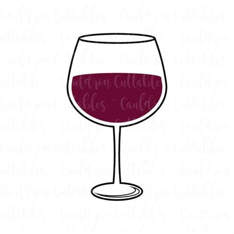 wine glass svg wine glass svg file wine lover clipart drink dxf eps png