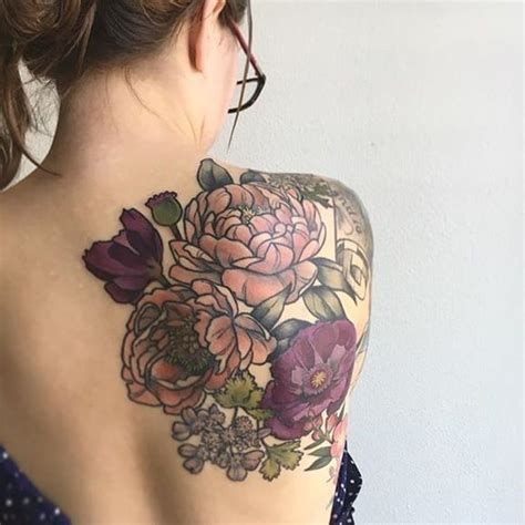 flower tattoo on shoulder and back best 25 rose back tattoos ideas on pinterest woman