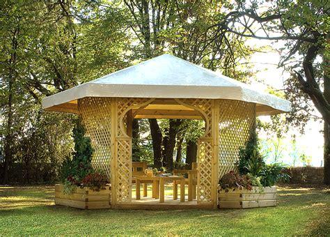 gazebo esagonale legnolandia arredo giardino gazebo esagonale