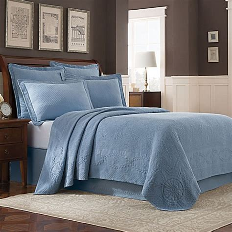 bed bath and beyond williamsburg buy williamsburg abby king coverlet in blue from bed bath