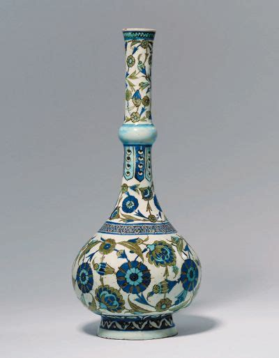 ottoman pottery iznik pottery water bottle turkey ottoman empire circa