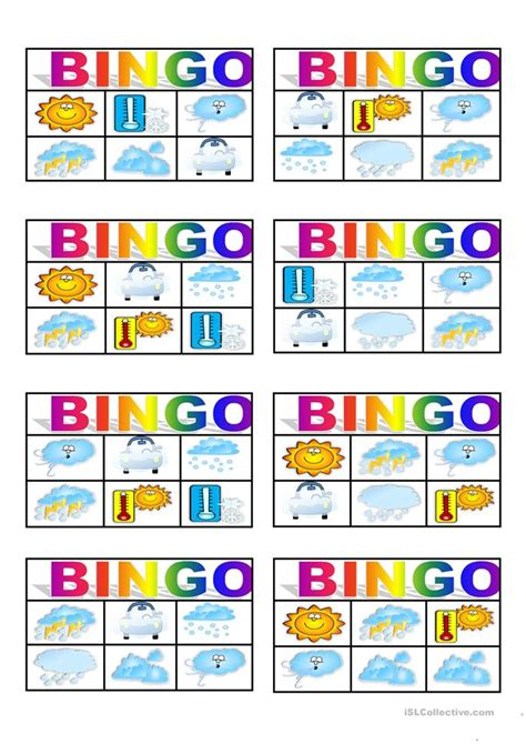 printable games weather weather bingo worksheet free esl printable worksheets