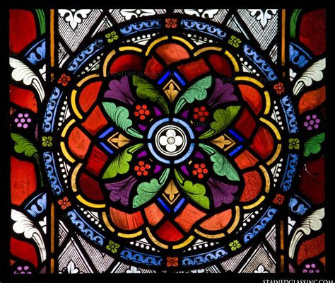 quot glass rosette quot stained glass window
