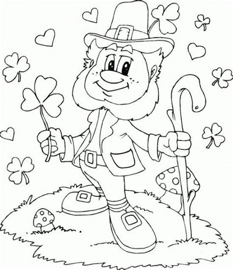 free printable st day coloring pages leprechaun coloring page c0lor coloring page