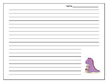 dinosaur writing paper dinosaur themed writing paper by realistic tpt