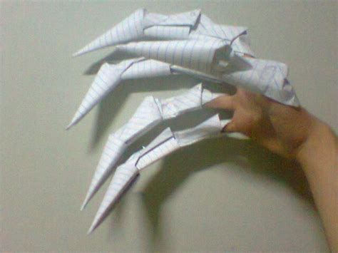 Make Paper Claws - origami claws 3 by victorreissobreira on deviantart