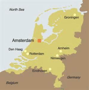 netherlands map amsterdam netherlands