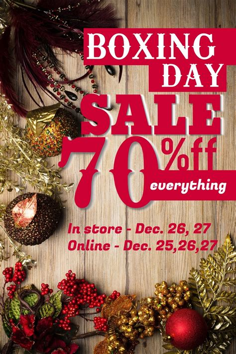 boxing day be good make boxing day sales successful with postermywall design studio