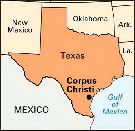 corpus christi map of texas corpus christi location encyclopedia children s homework help