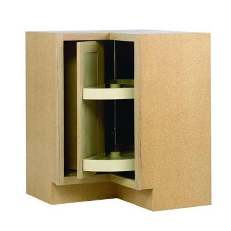 Home Depot Corner Cabinet 28 375x34 5x16 5 in lazy susan corner base cabinet in