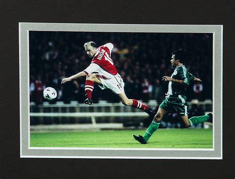 arsenal number 10 framed dennis bergk signed arsenal shirt number 10